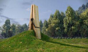 Giant clothespin, Belgium