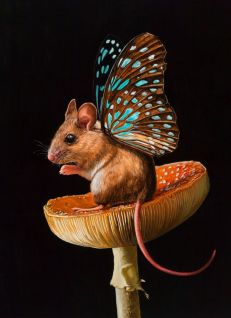Mouse with wings by Lisa Ericson