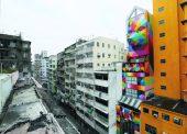Mural by Okuda, Hong Kong