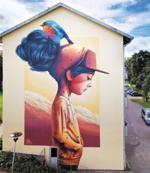 Mural by Yash, Gothenburg, Sweden