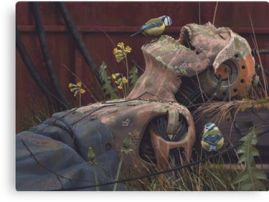 On the Activities of Primates by Simon Stalenhag
