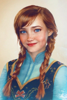 Princess Anna by Photoshop artist Jirka Vaatainen