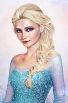 Queen Elsa by Photoshop artist Jirka Vaatainen