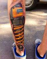 Shock absorber tattoo