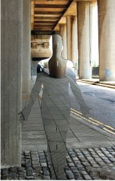 Vestige, mirrored sculpture by Rob Mulholland