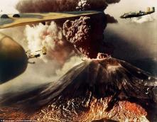 B-25 bombers faced a new enemy when Mt. Vesuvius, Italy, erupted under them in 1944.