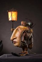 Bedside lamp doll by Ron Beck