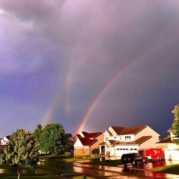Following a huge storm, this triple rainbow seems to promise better things to come.