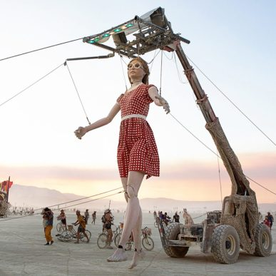 Giant doll at Burning Man