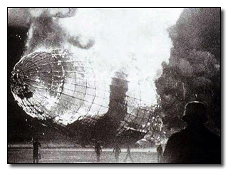 Hindenburg - They did so by waiting until the burning zeppelin was near the ground, then jumped and running from the collapsing inferno.