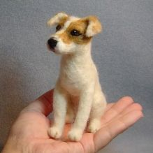 Jack Russell Terrier - needle felted doll (Pet Portrait Memorials)