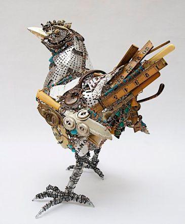 Junkyard hen by Barbara Franc