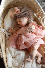 Little Werewolf girl doll (Etsy)