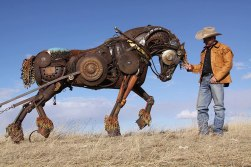 Old Farm Equipment Plow Horse by John Lopez