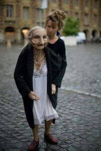 Old Lady walking doll by Marionnettissimo