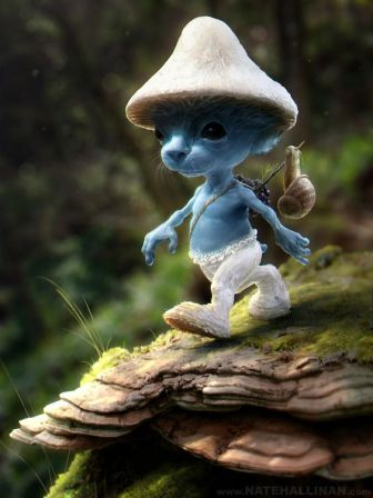 Realistic Smurf doll by Nate Hallinan
