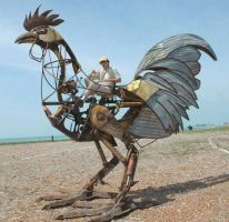 Scrap metal Cockerel - ready to ride