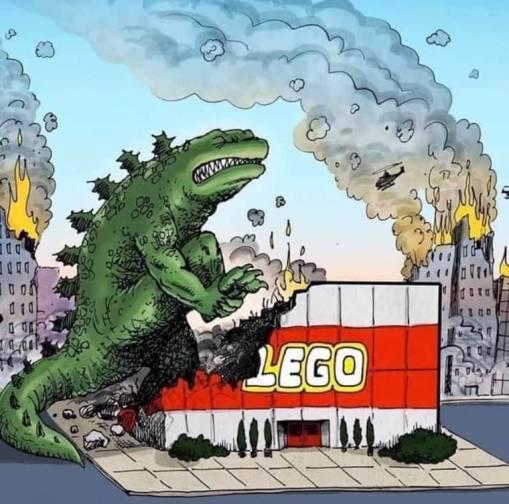 Godzilla, Legos factory