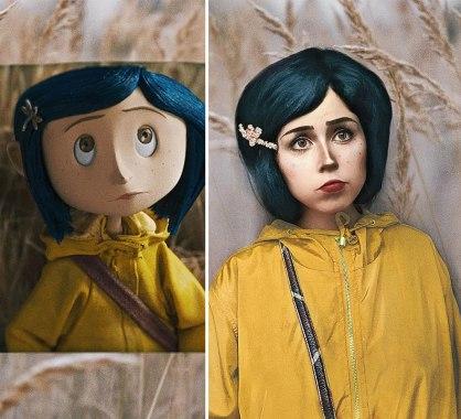 Coraline (Russian cosplayer Jules Gudkova)