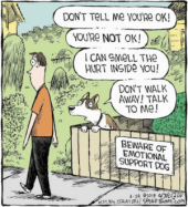 Empathetic canines can be rather overbearing