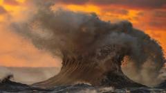 Exploding wave on Lake Erie