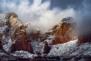 Fog over Soldier's Pass, Sedona (photo by Harvey Stearn)