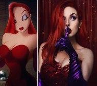 Jessica Rabbit (Russian cosplayer Jules Gudkova)