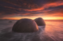 Moeraki Boulders at Sunrise (photo by Jimmy McIntyre