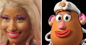 Nicky Minaj (unintenitonally) channeling Mrs. Potato Head from Toy Story