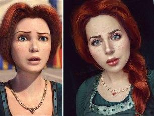 Pre-green Princess Fiona (Russian cosplayer Jules Gudkova)
