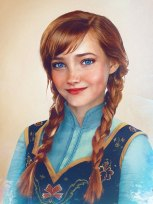 Princess Anna from Frozen by Jirka Vinse Jonatan Väätäinen