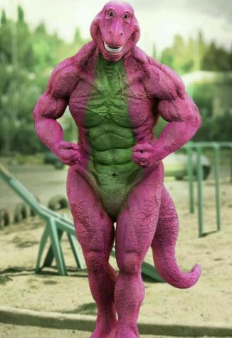 Real life Barney the Dinosaur