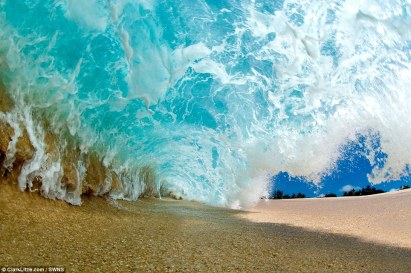 Shorebreak Barrel wave (photo by Clark Little)