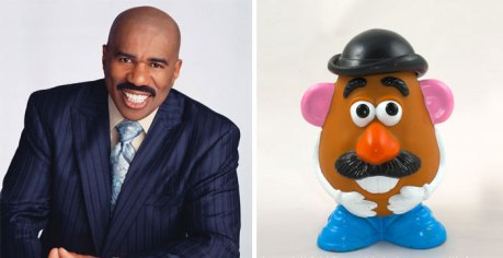 Stever Harvey (unintentionally) channeling Mr. Potato Head from Toy Story