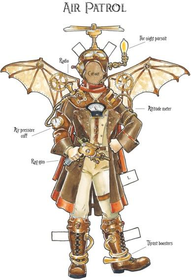 Air Patrol, aeronautic paper doll (Dover Publications)