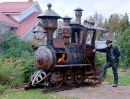 BBQ locomotive (steampunk Texas-style)