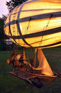 Flyable lifesized steampunk airship