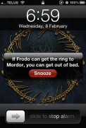 Lord of (when) the (alarm) Rings