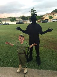 Peter Pan (kid) with his shadow (dad)