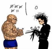 Rock crushes Scissors