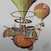 Steampunk Airship by Steambird Design
