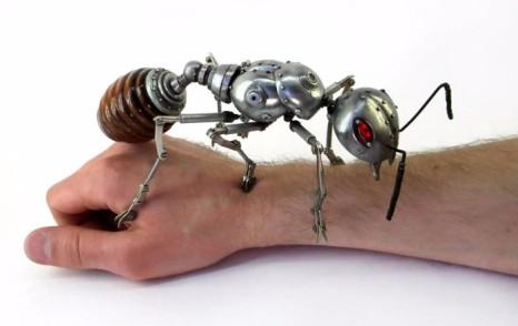 Steampunk clockwork ant