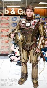 Steampunk cosplayer seen at Dragoncon