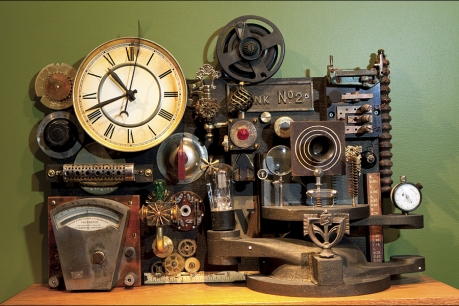 Steampunk movie projector