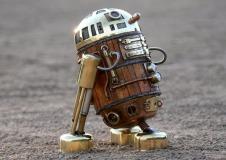 Steampunk R2D2 by AmoebaBoy