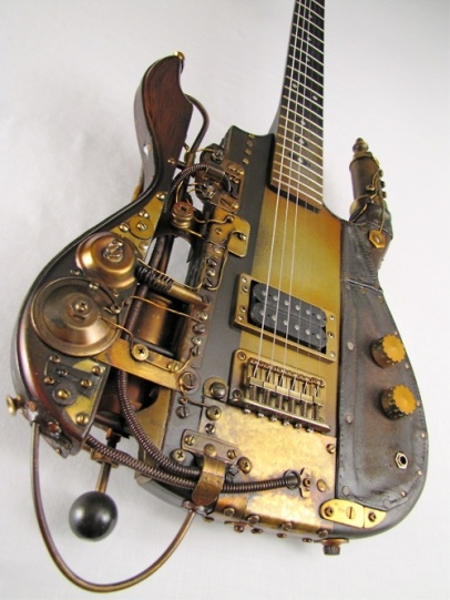 Steampunk Stratocaster guitar - I WANT ONE (ebaumsworld.com)