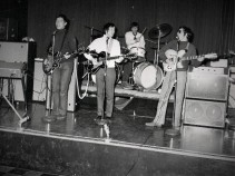 The Daily Planet in rehearsal as a house band (Marc in the middle, me on the right)