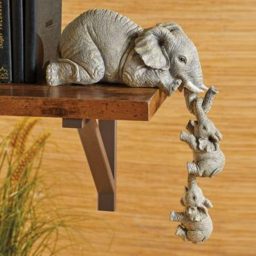 Elephant Sitter Hand-Painted Figurines (walmart.com)