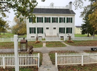 Shaker Village - dwelling with separate entrances for sisters and brothers