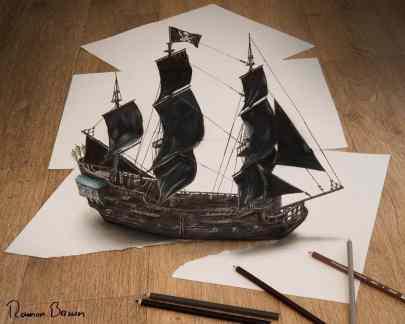 Anamorphic Illusion on Paper (ramon-bruin.com)